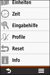 GARMIN eTrex Touch 25/35 - Einstellungen (4 von 4)
