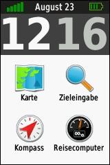 GARMIN eTrex Touch 25/35 - Hauptmenu klassisch