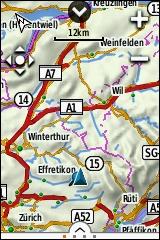GARMIN eTrex Touch 25/35 - Vorinstallierte topografische Europakarte (Uebersicht)