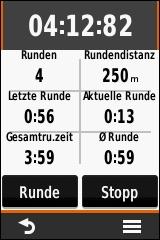 GARMIN eTrex Touch 25/35 - Stoppuhr