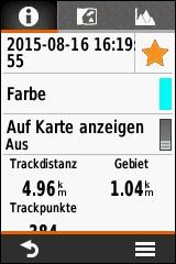 GARMIN eTrex Touch 25/35 - Track Zusammenfassung