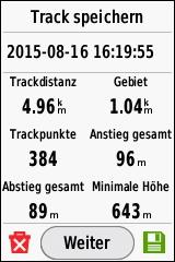 GARMIN eTrex Touch 25/35 - Track