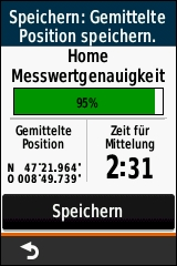 GARMIN eTrex Touch 25/35 - Wegpunkt-Mittelung