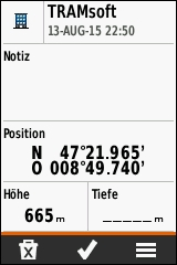 GARMIN eTrex Touch 25/35 - Wegpunkt